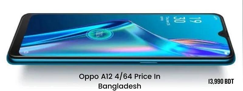 Oppo A12 4GB Ram 64GB Rom Price In Bangladesh