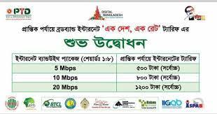 Bangladesh Internet Price By Government