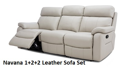 Navana 1+2+2 Leather Sofa Set
